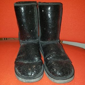 UGG Sequin short boots...size 9
